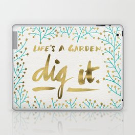 Dig It – Gold & Turquoise Laptop & iPad Skin