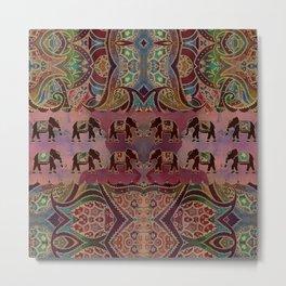 Floral Elephants #2 Metal Print