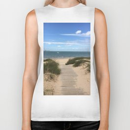 Breezy Seaside Path Biker Tank