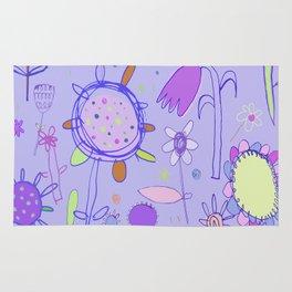 Sketchy Flowers Rug