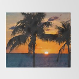 Key Largo Sunset Throw Blanket