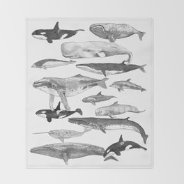 Cetology Throw Blanket