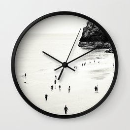 Cornwall beach life Wall Clock