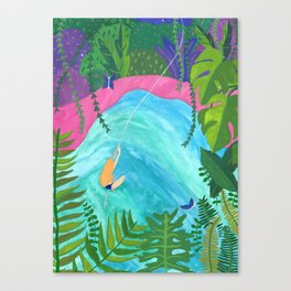 Tropical Pool Adventure Canvas Print