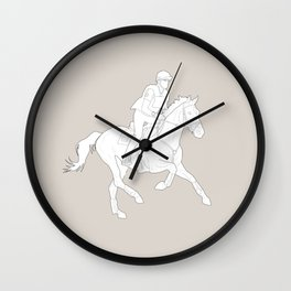 Eventing in brown Wall Clock