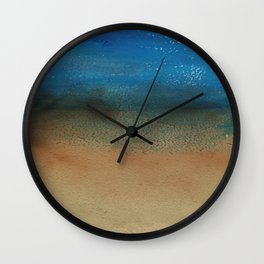 Fantasy of Water and Sand Wall Clock