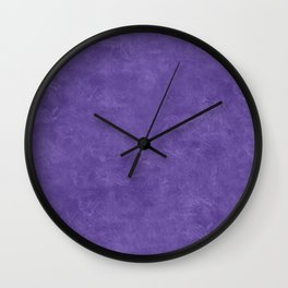 Ultra Violet Oil Pastel Color Accent Wall Clock