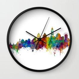 Santorini Skyline Wall Clock