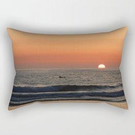West Coast Sunset Rectangular Pillow