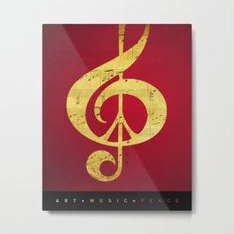 Music & Peace Sheet Music Metal Print