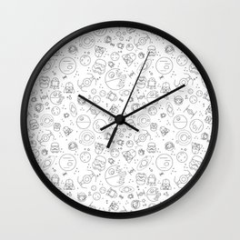 Outta Space white Wall Clock