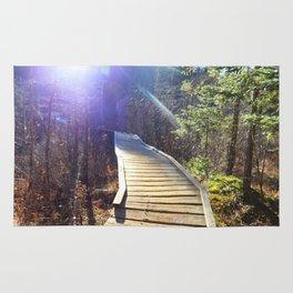 Footbridge to Highpeaks  Rug