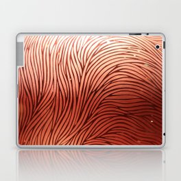 Red composition of multiple directional lines. Laptop & iPad Skin