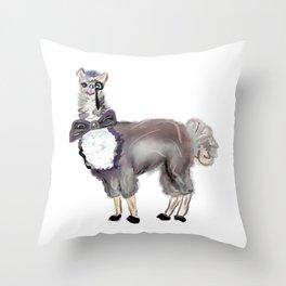 Sir Drama Llama Throw Pillow