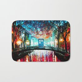 Tardis With Beautiful Starry Night Bath Mat