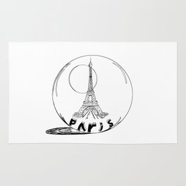 paris in a glass ball .  https://society6.com/vickonskey/collection Rug