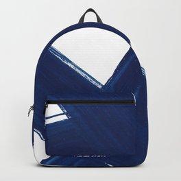 Indigo Abstract Brush Strokes | No. 3 Backpack