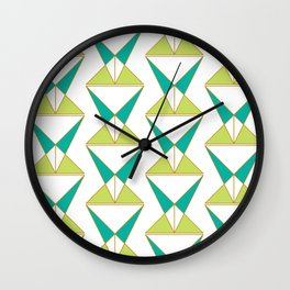 Retro Geometric Mid Century Modern Wall Clock