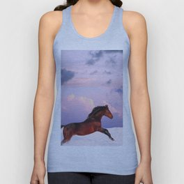 horse collection. winter Unisex Tank Top