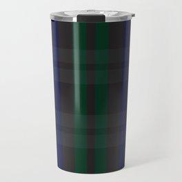Green and blue plaid pattern Travel Mug