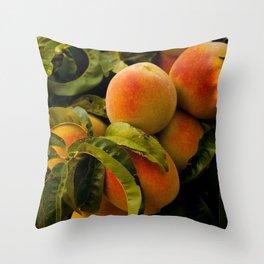 Peaches for me Throw Pillow