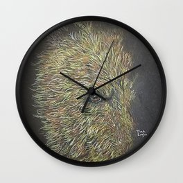peek a boo Wall Clock