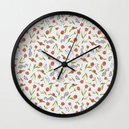 BTATO_Poppies Wall Clock