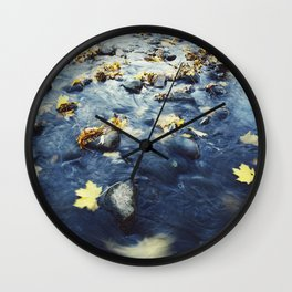 Autumn Leaves, Color Film Photo, Analog Wall Clock