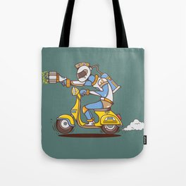 Space Scooterman Tote Bag