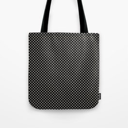 Black and Rock Ridge Polka Dots Tote Bag