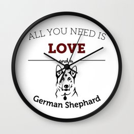 All You Need Is Love and a German Shephard Wall Clock