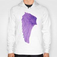 angel wings Hoodies featuring Purple Angel Wings by The Bohemian Bubble