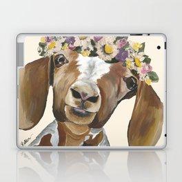 Goat Art, Flower Crown Goat Laptop & iPad Skin