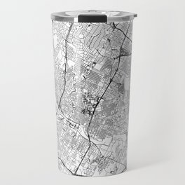 Austin White Map Travel Mug