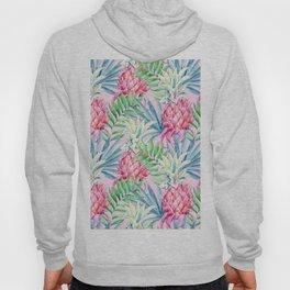 Pineapple & watercolor leaves Hoody