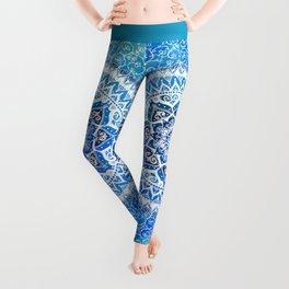 Watercolour Yin Yang Mandala Leggings