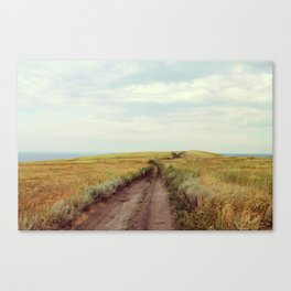 Rustic photography Country road photo Landscape print Nature poster Summer Canvas Print