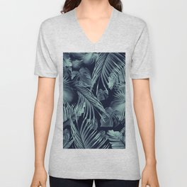 Tropical Jungle Leaves Dream #9 #tropical #decor #art #society6 Unisex V-Neck