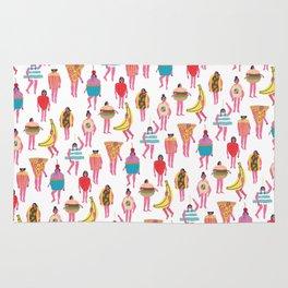 Funky Fancy Dress Pink Ladies Rug