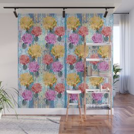Trio of Peonies - Summer Pastels Wall Mural