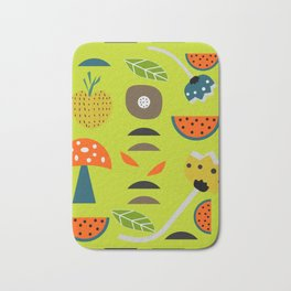 Modern decor with fruits and flowers Bath Mat