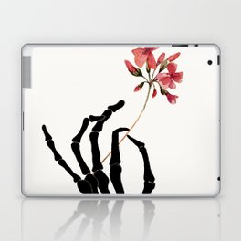 Skeleton Hand with Flower Laptop & iPad Skin