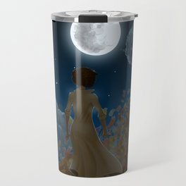 The moon and Leaves Travel Mug