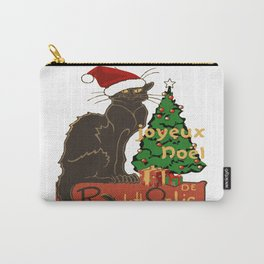 Joyeux Noel Le Chat Noir With Tree And Gifts Carry-All Pouch