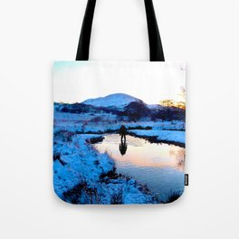 Snowy puddles Tote Bag