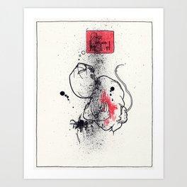 Open your veins Art Print