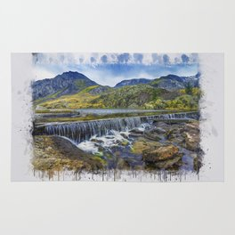 Snowdonia Tryfan Painting Rug