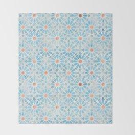 Hara Tiles Light Blue Throw Blanket