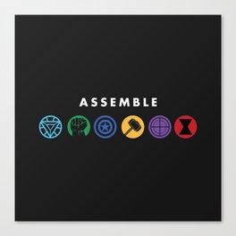 Assemble Canvas Print