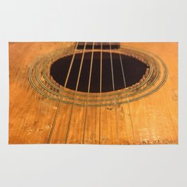 Wooden Acoustic Guitar Rug